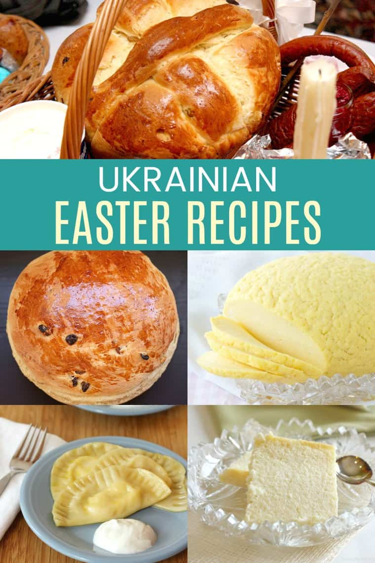Collage of Ukrainian Easter Recipes