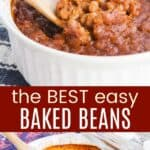 Secret Best Baked Beans Pinterest Collage