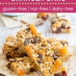 Allergy Friendly Trail Mix Granola Bars Pin Template Dark