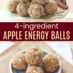 4-Ingredient Apple Energy Balls Recipe Image with Title