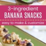 Easy Peanut Butter Banana Snack Bites Pinterest Template Dark