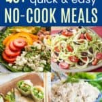 No-Cook Recipes Pinterest Collage
