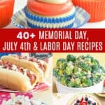 Summer Holiday Recipes Pinterest Collage