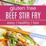 Gluten Free Beef and Veggie Stir Fry Pinterest Template Dark