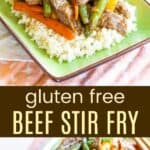 Gluten Free Beef Stir Fry Recipe Pinterest Collage