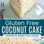 Gluten Free Coconut Cake Recipe Pinterest Collage