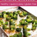 Maple Sesame Roasted Broccoli Pin Template Dark