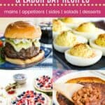 Memorial Day Fourth of July Recipes Pin Template Dark