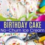 Cake Batter Ice Cream Pinterest Collage