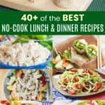 No-Cook Meals Pinterest Collage