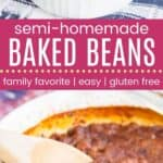 Best Easy Baked Beans Pinterest Collage Template