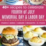 Memorial Day Labor Day Fourth of July Pinterest Collage Template