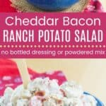 Cheddar Bacon Ranch Potato Salad Pin Template Long