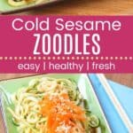 Cold Sesame Zoodles Pin Template Long