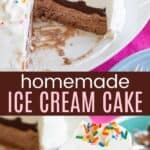 Easy Ice Cream Cake Pinterest Collage