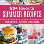50+ Favorite Summer Recipes Pinterest Collage Template