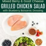 Grilled Chicken Salad with Blueberry Balsamic Dressing Pinterest Collage