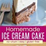 Homemade Ice Cream Cake Recipe Pinterest Collage