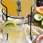 Light and Refreshing Grapefruit Margaritas recipe image with title