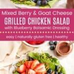 Mixed Berry Grilled Chicken Salad Pinterest Template Dark