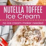 Nutella Toffee Ice Cream Pin Template Long