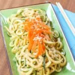 Sesame Peanut Zoodles Salad Recipe Image with title