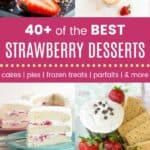 Strawberry Dessert Recipes Pinterest Collage Template