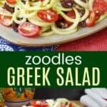 Zoodles Greek Salad Pinterest Collage