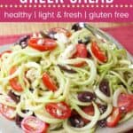 Zoodles Greek Salad Pin Template Dark