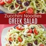 Zucchini Noodles Greek Salad Pinterest Collage