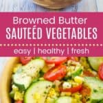 Browned Butter Sauteed Vegetables Pin Template Long