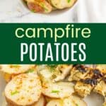 Campfire Potatoes Pinterest Collage