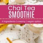 Chai Tea Smoothie Pin Template Long