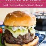 French Onion Stuffed Burgers Pin Template Dark