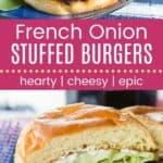 French Onion Stuffed Burgers Pin Template Long