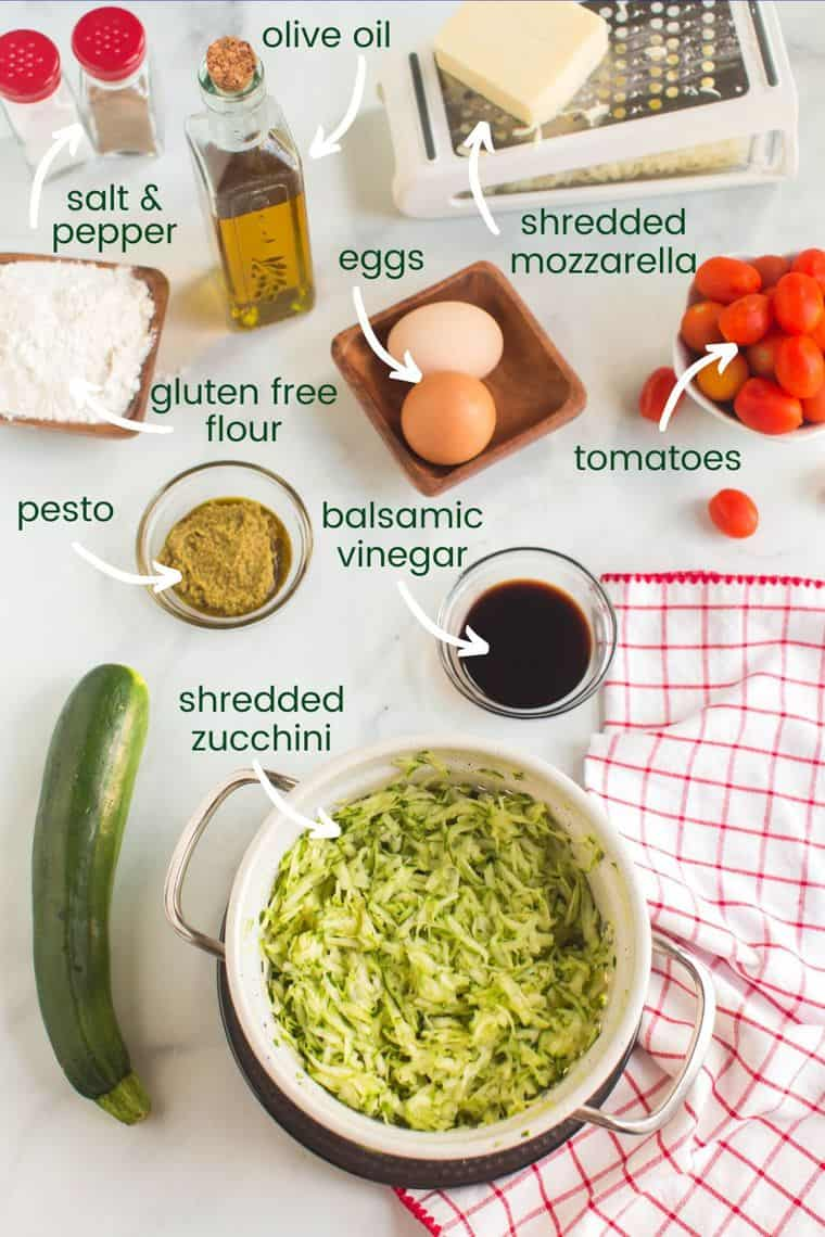 Labeled photo of ingredient to make Gluten Free Air Fryer Zucchini Fritters