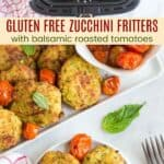 Gluten Free Zucchini Fritters Pinterest Collage