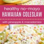 Healthy No-Mayo Hawaiian Coleslaw Pinterest Collage Long