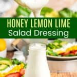 Honey Lemon Lime Salad Dressing Pinterest Collage