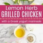 Lemon Herb Chicken Yogurt Marinade Pin Template Long