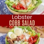 Lobster Cobb Salad Recipe Collage