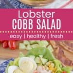 Lobster Cobb Salad Recipe Pin Template Long