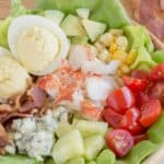 Lobster Cobb Salad Recipe Image with Title