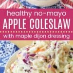 Maple Dijon Apple Coleslaw Pin Template Long