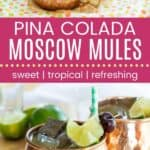 Pina Colada Moscow Mules Pin Template Long