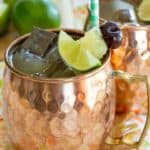 Pina Colada Moscow Mules Recipe Image with title