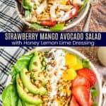 Strawberry Mango Avocado Salad Pinterest Collage