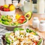 Strawberry Mango Avocado Salad with Honey Lemon Lime Dressing Recipe Image with title