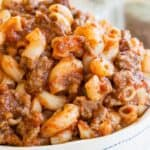 5-Ingredient 20-minute Beefaroni Recipe Image with title