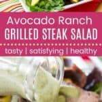 Avocado Ranch Grilled Steak Salad Pin Template Long